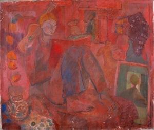 andras lazar painting, andras lazar, hungarian painting, hungarian artist, modernist tempera painting, modernist painting, tempera painting, art, hungarian art, art gallery